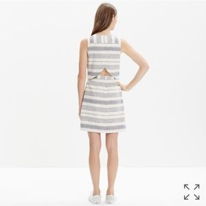 Madewell Striped Open Back Overlay Dress
